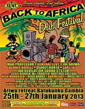 News reggae : Back to Africa Dub Festival, deuxième