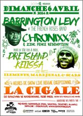 News reggae : Barrington Levy, Chronixx, Dre Island & Kelissa à Paris