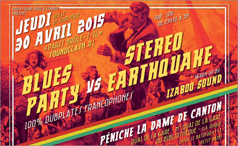 News reggae : Clash « Paris brûle-t-il ? » : Blues Party vs Stereo Earthquake