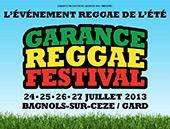 News reggae : Garance Reggae Festival 2013, les premiers noms d�voil�s