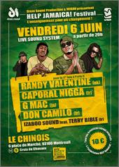 News reggae : Help Jamaica! Festival avec Randy Valentine, Caporal Nigga, G Mac et Don Camilo