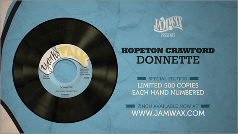 News reggae : Nouvelle réédition du label Jamwax : <i>Donnette</i>, par Hopeton Crawford
