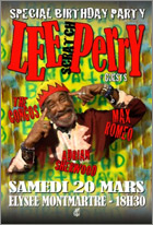 News reggae : Lee Perry fêtera son anniversaire à Paris