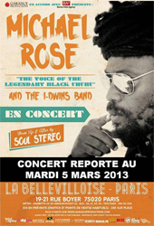 News reggae : Michael Rose de retour en France