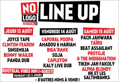 News reggae : No Logo Festival 2015 avec Bunny Wailer, Capleton, Alpha Blondy, Biga Ranx, Taïro, Protoje...