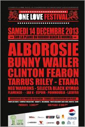 News reggae : Le One Love Festival de Nouméa avec Bunny Wailer, Alborosie et Tarrus Riley