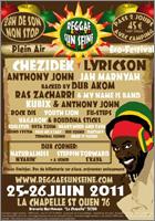 News reggae : Festival Reggae Sun Seine, première