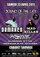 News reggae : Demarco, Mad Killah et Pow Pow au Sound of the city 2