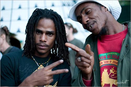 009. Matthew McAnuff & Ras Daniel Ray (Garance Reggae Festival 2010)