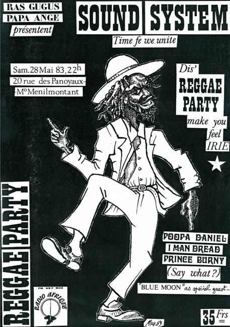 42. Tract pour la Reggae Party du 28 mai 1983 (© Marie Vaneetvelde)