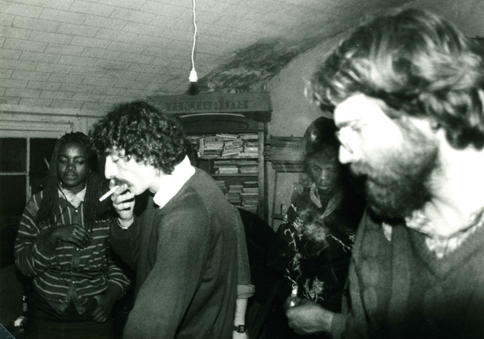 47. Céline, Jean Cotton, Iro, Didier - 28 mai 1983 (© Marie Vaneetvelde)